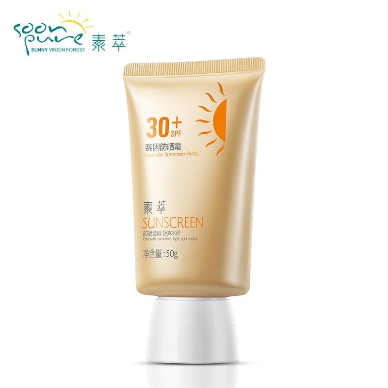2016 New Sunscreen Face Cream SPF30 50g Sunblock UV Protection Makeup font b Base b font