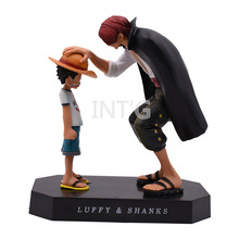 купить 6 15cm Anime One Piece Straw Hat Luffy Red Hair Shanks PVC Action Figure Doll Children Gift Collection дешево