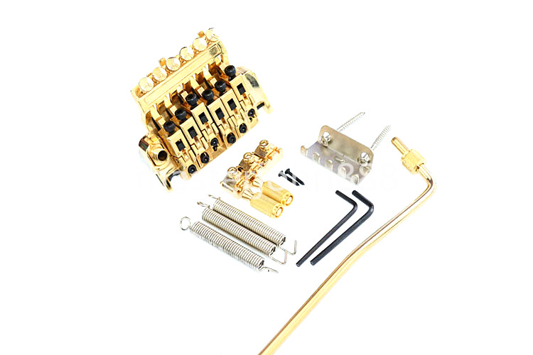 Floyd Rose Electric Guitar Bridge Tremolo Bridge Locking System Chrome/Black/Gold Free Shipping genuine original floyd rose 5000 series electric guitar tremolo system bridge frt05000 black nickel cosmo without packaging