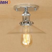 IWHD Loft Stil Edison Industrie Vintage Decke Lampe Antike Eisen Glas Decken Leuchten Innen Beleuchtung Lamparas-in Deckenleuchten aus Licht & Beleuchtung bei