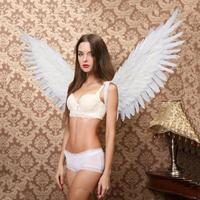 COS Costume adult's white Angel feather wings for Model's photography Catwalk show Party wear Displays shooting props