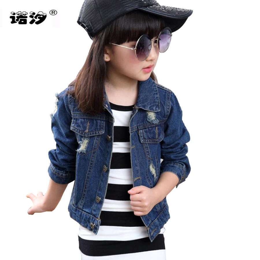 d7322e6e Girls jacket baby girls cotton denim jacket children spring autumn tops  kids jeans child clothes baby