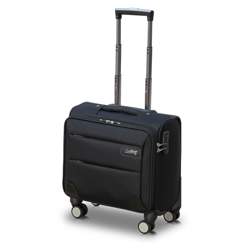 Commercial universal wheels trolley luggage travel bag luggage14 16 18 20 male oxford fabric small female waterproof luggage