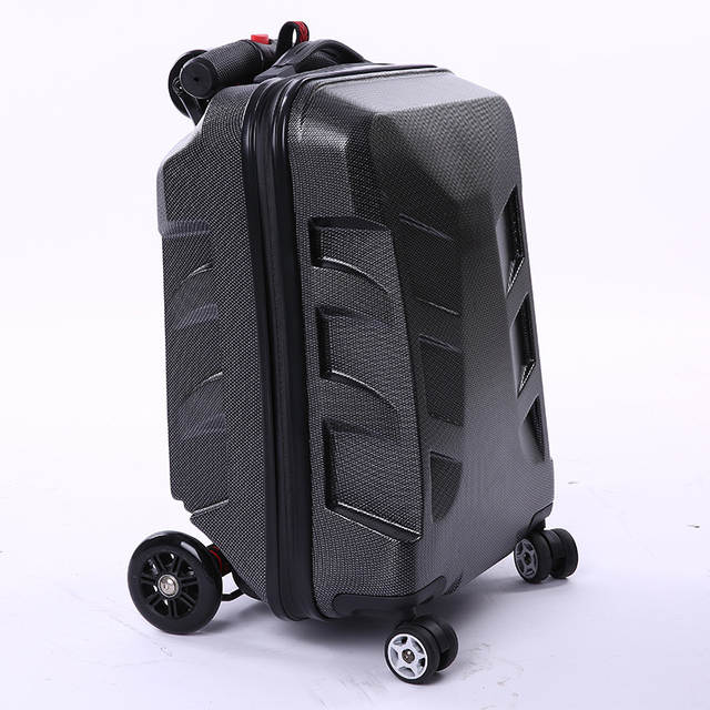 d915ee3b0d3b New Designe 22inch TSA Lock Scooter Luggage Aluminum Suitcase With Wheels  Skateboard Rolling Luggage Travel Trolley Case
