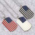 Хип-хоп Американский кулон в форме флага, мужские ожерелья, армейская Военная карта, Очаровательное ожерелье из бисера на цепочке, модные юв...