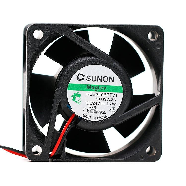 Новый вентилятор охлаждения частоты для Sunon 6025 KDE2406PTV1 24V 1,7 W|Кулеры/вентиляторы/системы охлаждения|   | АлиЭкспресс