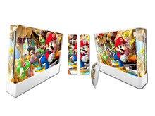 Etiqueta de protección de piel de vinilo Mario para Nintendo Wii y pegatinas de pieles controladoras WII