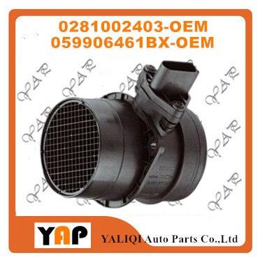 NEW FLOW METER SENSOR FOR FITAUDI A4 Avant 8D2 8D5 B5 2.5TDI 0281002403 059906461BX 1997 2005 flow meter flow meter sensor flow sensor - title=
