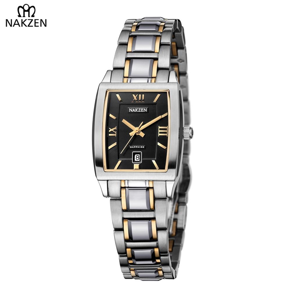 все цены на NAKZEN Luxury Brand Famous Woman Quartz Watch Business Wristwatch Relogio Feminino Elegant Casual Clock Zegarek Damski For Gift онлайн