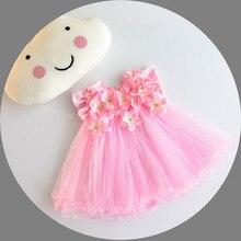 ddc9e94c07 Baby Girl Dresses Stereoskopowe 3D Aplikacja Niemowląt Chrzciny Suknie  Ślubne Księżniczka 1 Rok Urodziny Ubrać Noworodka
