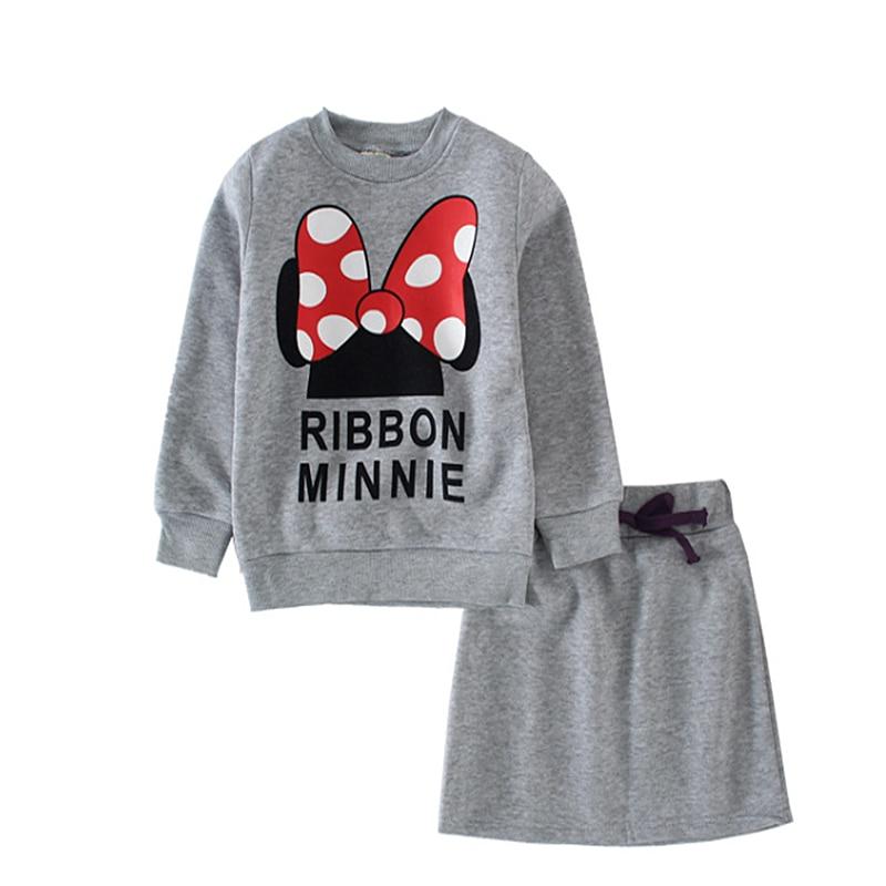 2021 baby clothes set Spring Girls clothing Minnie bow skirt suit children suit children suit wholesale children's skirt suits 4