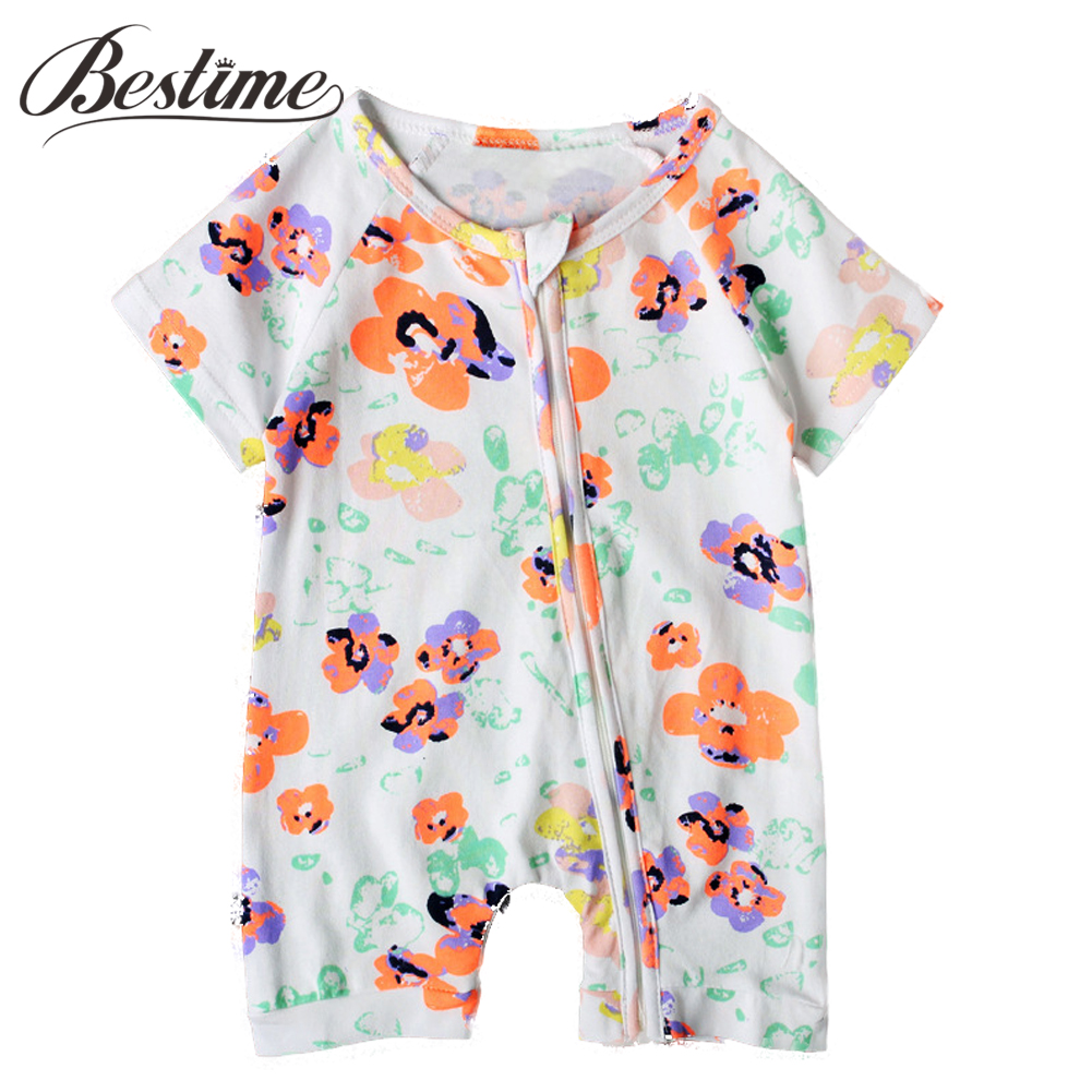 Baby Girl Clothing Cotton Short Sleeve Infant Romper Newborn Girls Summer Onepiece Baby Clothes