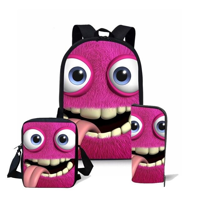 Coloranimal Emoji Smile Face Backpack Student Mochila Schoolbag  LaptopTravel Set Back Pack 3D Custom Bolsa Backpacks Boy Bookbag