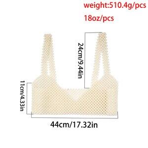 Image 4 - Sexy Luxury Full Imitation Pearl Bra Bikini Chain Necklace Women Wedding Korean Bohemia Handmade Belly Waist Chain Slave Jewelry