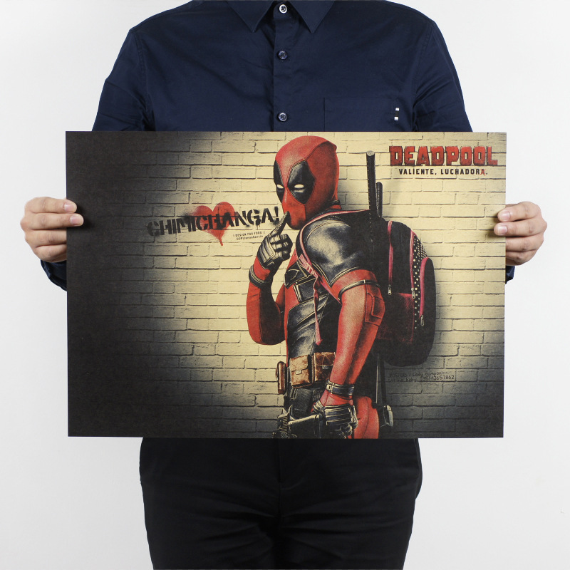 Deadpool B/classic Hollywood movie/kraft paper/bar poster/Retro Poster/decorative painting 51x35.5cm Free shipping