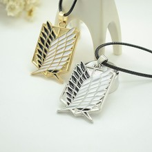 New Wholesale Anime Attack on Titan Wings of Liberty Pendant Necklace Shingeki no Kyojin Cosplay Necklace Survey Corps Necklace