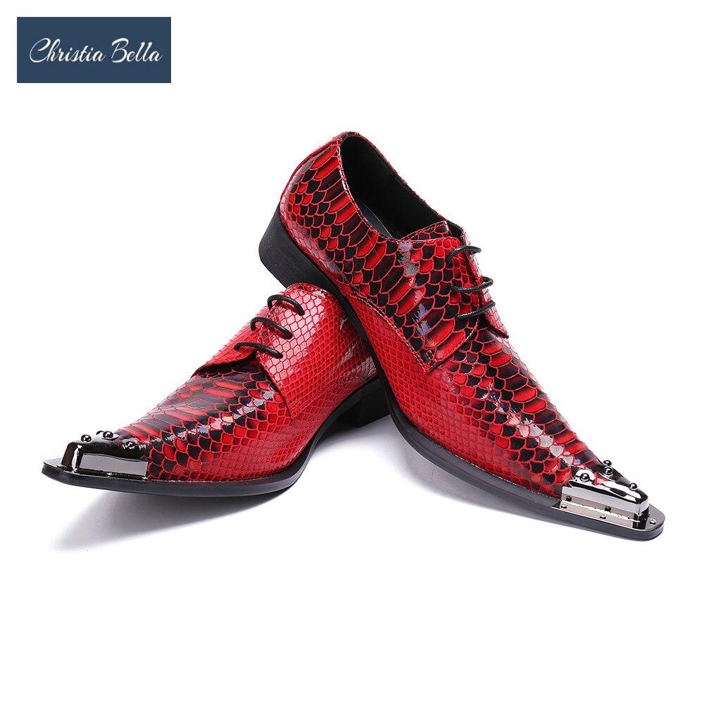 Couro Rebites Bella Feitos Rendas Oxford branco Sapatos Mão Para Impressão Metal Apontou Vermelho Homens De Vermelho Casamento Até À Flats Toe Christia Vestido pBX76nWU7