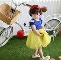 Bebés snow white princess dress, niños de dibujos animados ropa Cosplay 2-8Y toddler Girls Party vestido de liquidación