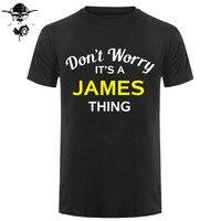 Не волнуйтесь, это вещь Джеймса! -Мужская футболка-семья-пользовательское имя печать футболка мужская короткий рукав Горячие Топы Футболка