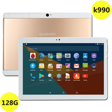Super Tempered  10 inch tablet Android 7.0 Octa Core 4GB RAM 128GB ROM 8 Cores 1280*800 IPS Screen Tablets 10.1 + Gift