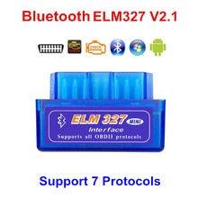 2020 super mini elm327 bluetooth v2.1 obd2 ferramenta de diagnóstico do carro elm 327 bluetooth v4.0 para android/pc elm327 v2.1 obdii código ler
