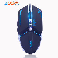 ZUOYA Gaming Mouse Professional Wired USB 7 Button 5500 DPI LED Optical Black/Gray Game Computer Mice Gamer Mause For PC laptop