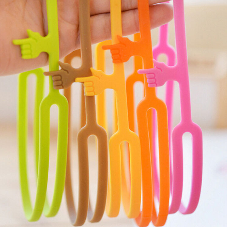 6 Pcs/Lot Silicone Finger Print Handy Bookmarks Book Holder Papelaria Marcador De Livro Stationary Office School Supplies