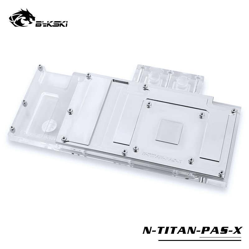 Bykski su bloğu kullanımı için NVIDIA GTX TITAN XP/x-pascal/GTX1070/1080/1080TI kurucu /referans baskı/tam kapak bloğu RGB