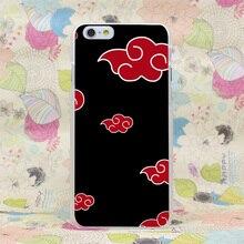 45HJ Anime Naruto Akatsuki Desgin Hard Transparent Case Cover for iPhone 4 4s 5 5s SE 5C 6 6s Plus 7 7 Plus