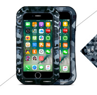 LOVE MEI Camouflage Metal Case For Apple iPhone 7 8 plusLife Waterproof Shockproof Aluminum Cover For iphone7 Protect Shell