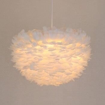 Led Moderne Pendelleuchten Weiße Feder Kabel Hängeleuchte für Esszimmer luminaria Beleuchtung