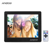 Andoer 8 HD Wide Screen High Resolution Digital Photo Picture Frame Alarm Clock MP3 MP4 Movie Player with Remote Control