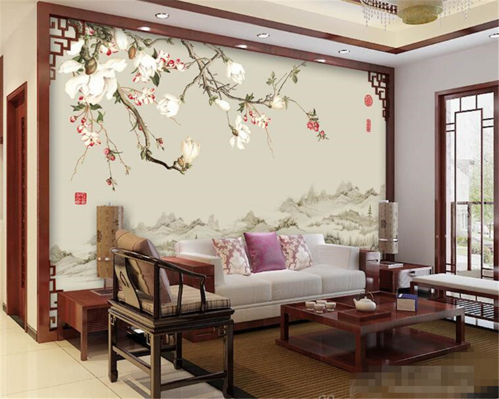 beibehang 3d photo wallpaper high quality fashion wallpaper 3d TV background covered magnolia wall paper for living room murals shinehome black white cartoon car frames photo wallpaper 3d for kids room roll livingroom background murals rolls wall paper