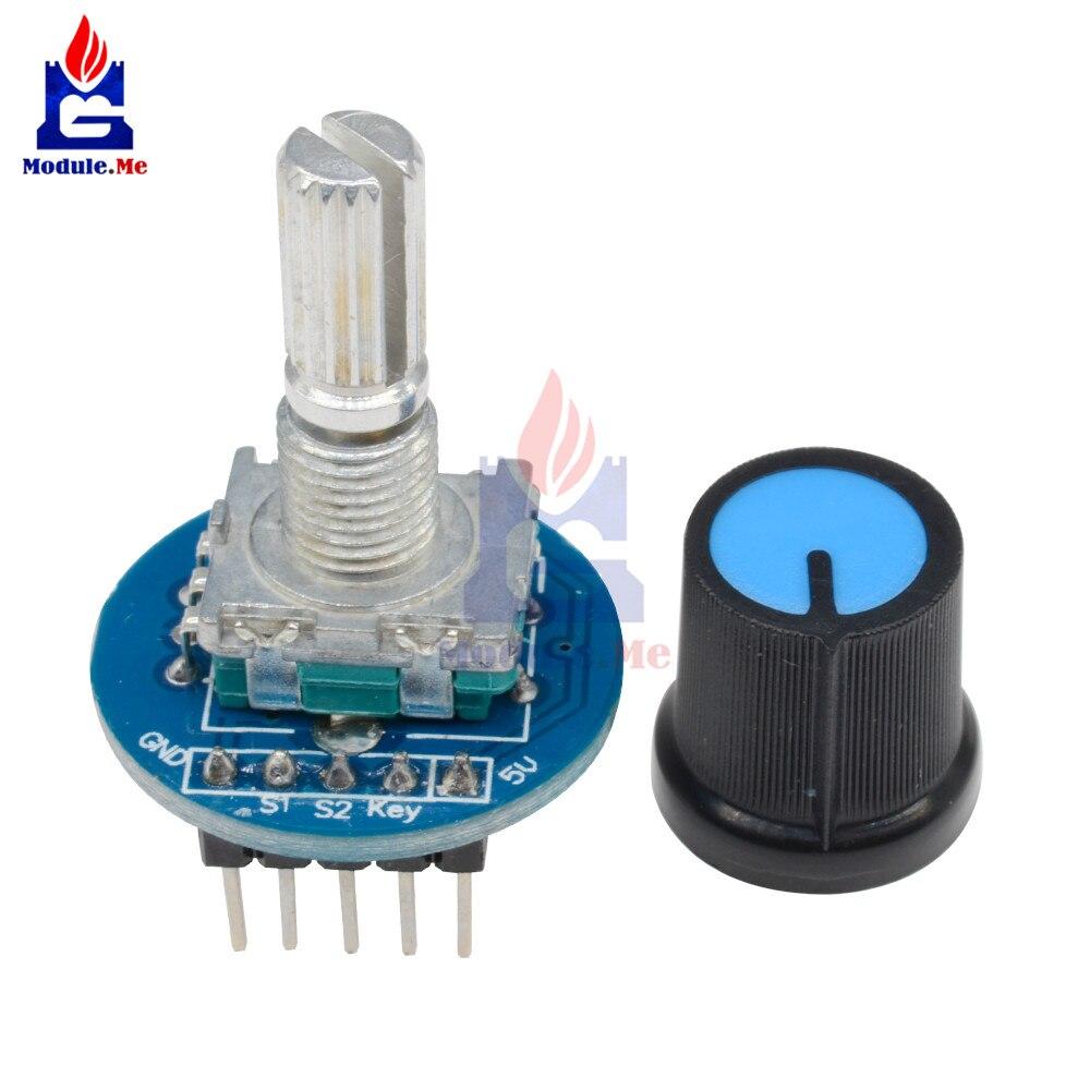 Rotary Encoder Module 5V Brick Sensor Development Round Audio Rotating Potentiometer Knob Cap for Arduino