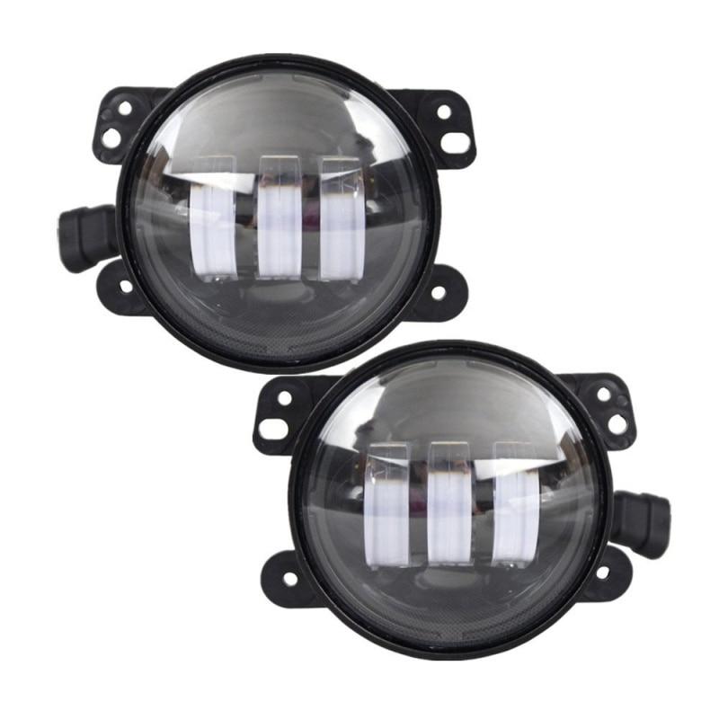 Black 4 inch Round LED Fog Light for Jeep Wrangler JK High Power 4 LED Fog Lamp Auto Lighting Led Headlamp for Jeep Wrangler кастрюля regent apple 93 b 13