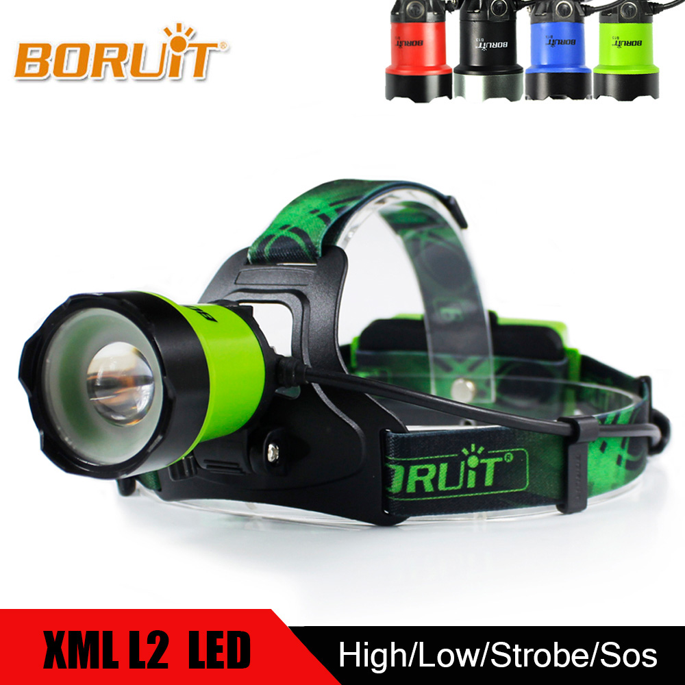 BORUIT High Power 3 Modes XML L2 LED Headlight Waterproof Flashlight USB Charge Headlamp Head Torch For Hunting Fishing boruit xml l2 led headlight lantern 4 modes usb power bank headlamp for fishing hunting use 18650 battery torch lanterna rj 5001