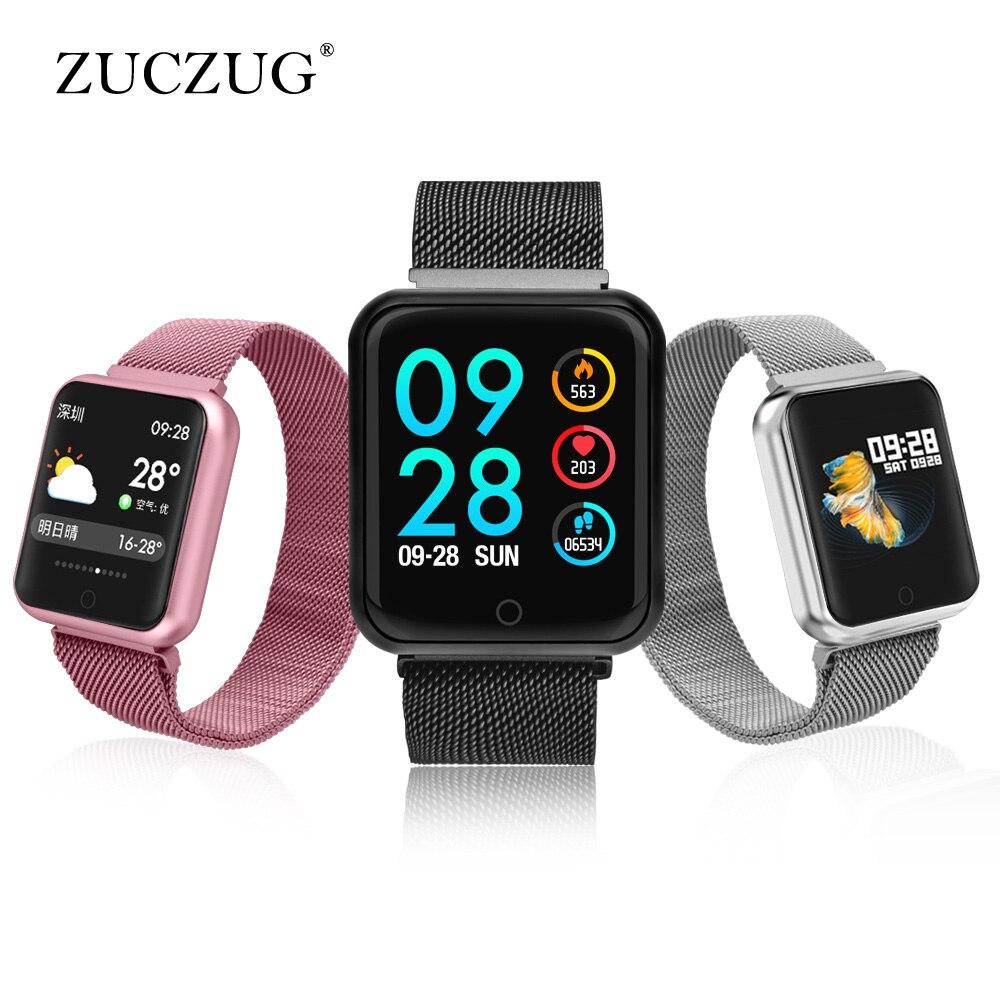 a69da7eb16e IP68 Lembrete relógio Inteligente pulseira pulseira À Prova D  Água  Inteligente heart rate banda smartwatch inteligente de medição de pressão  arterial em ...