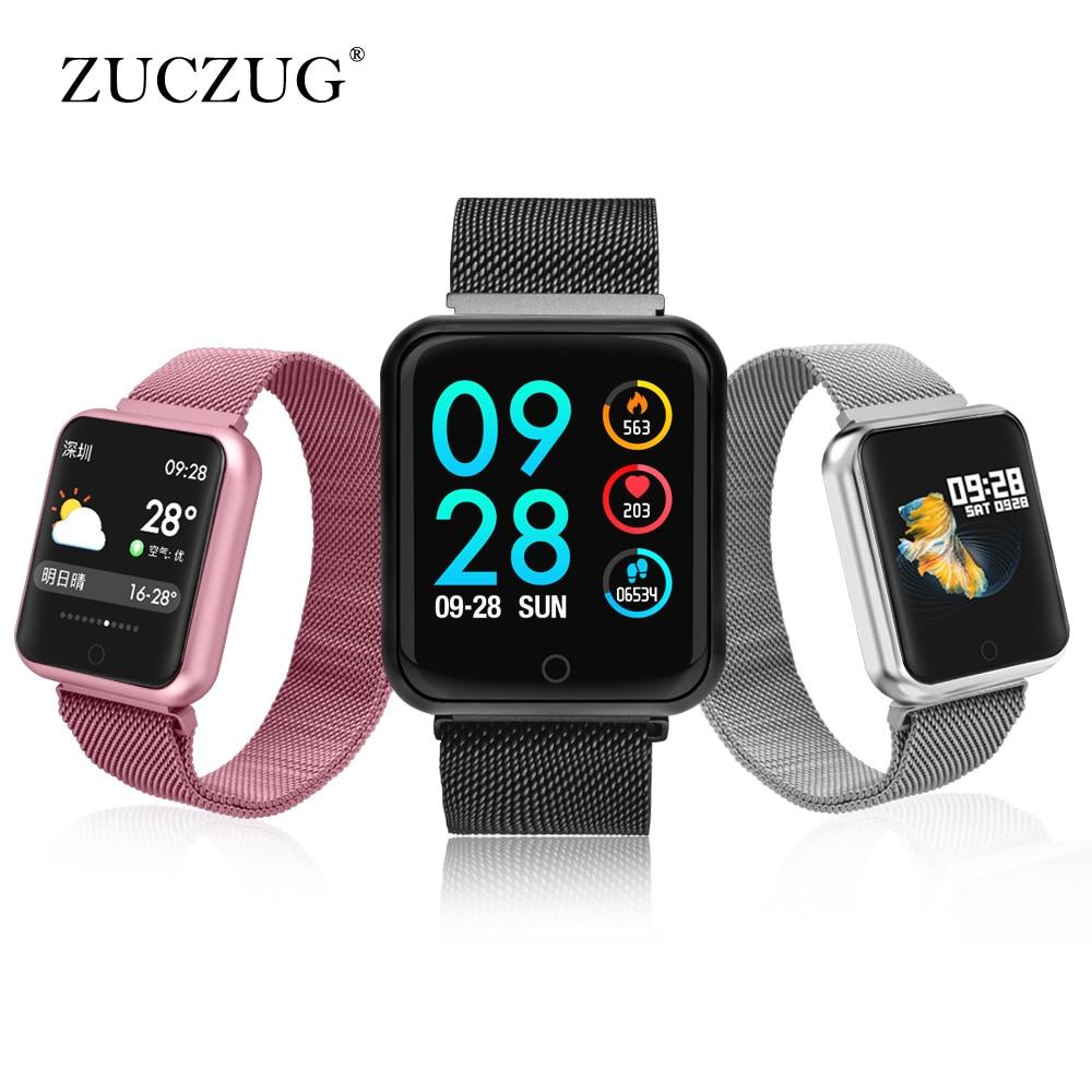 P68 Smart watch IP68 Waterproof wristband Reminder heart rate smart band Multi-language smart watch merlin smart watch m60