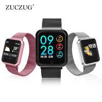 P68 Smart watch IP68 Waterproof wristband Reminder heart rate smart band Multi language smart watch