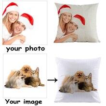 Customized Pillow Linen Cotton Cushion 45*45cm For Home Sofa Decorative for Decor Cojines