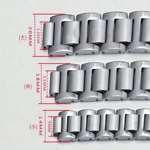 Image 4 - Neway נירוסטה שעון להקת עבור קרטייה Ballon Bleu כסף עלה זהב שעון רצועת צמיד גברים נשים רצועת השעון 9mm 11mm 12mm
