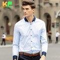 High Quality Men Shirt Long Sleeve Cotton Printed Dress Man's Business Clothing TurnDown Collar Social Brand Shirts MDSS1502