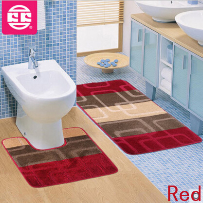 2psc Set Toilet Mat For Bathroom Carpet Home Decoration Car Modern Rugs Designs Area Rugs For Home Bathroom Carpet Doormat Mat