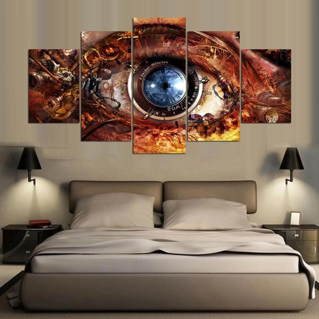 5 Panel Modern Hd Visual Effects Art Print Canvas Wall Framed Paintings For Living Room