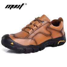 Plus Size 48 Genuine Leather Shoes Men Work Outdoor Quality Waterproof Non-slip Tooling