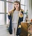 2016 Mulheres Outono Inverno Engrosse Lã de Carneiro jaqueta jeans casaco De ganga de Algodão senhoras Quentes do sexo feminino Vintage longo outwear parkas X6226