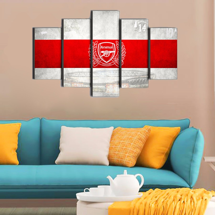 Arsenal football club logo hot selling sport painting on for 10x20 living room