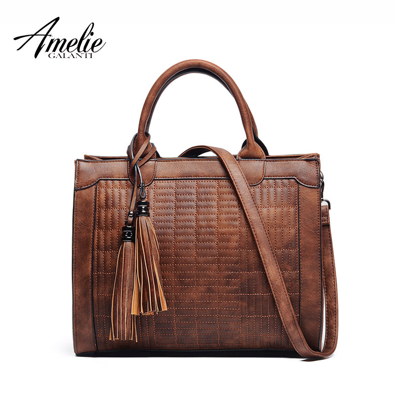 AMELIE GALANTI vintage graceful concise women handbags temperament tote channel