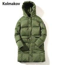 KOLMAKOV 2017 new winter top quality Men's lengthy cotton-padded jacket coats,hooded Thick heat parkas free coat,massive measurement M-5XL