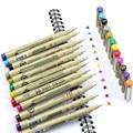 12 Цвет s тонкие ручки 0,5 мм превосходит иглы чертежная ручка тонкой вкладыш для рисования Pigma, Манга Аниме-маркер красивых цветов